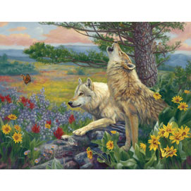 Wolves In Spring 1000 Piece Jigsaw Puzzle