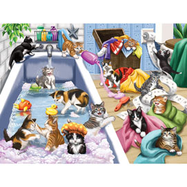 Bathtime Mischief 300 Large Piece Jigsaw Puzzle