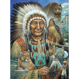Chief Sitting Bear 300 Large Piece Jigsaw Puzzle