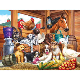 Barnyard Puppy Pals 300 Large Piece Jigsaw Puzzle