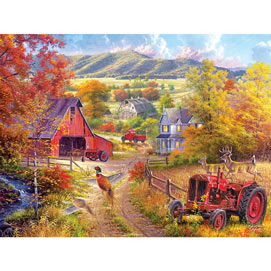 Down The Country Road 500 Piece Jigsaw Puzzle