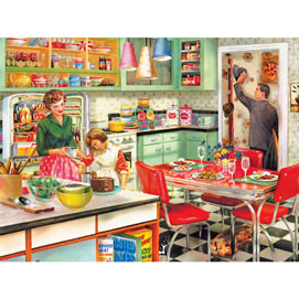 Baking With Mom 300 Large Piece Jigsaw Puzzle