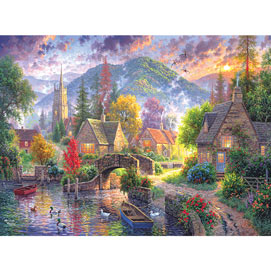 Mountain Village 300 Large Piece Jigsaw Puzzle