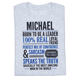 Personalized Most Amazing Man T-Shirt