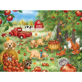 Apple Harvest Fun 300 Large Piece Jigsaw Puzzle