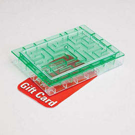 Gift Card Maze Green Money Holder