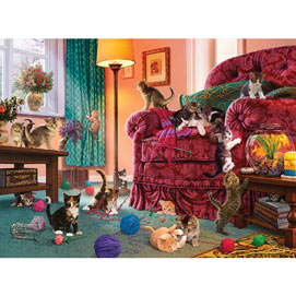 Naughty Kittens 300 Large Piece Jigsaw Puzzle