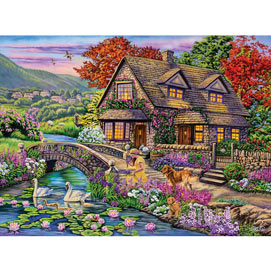 Swan Cottage 1000 Piece Jigsaw Puzzle