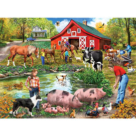 Farm By The Pond 300 Large Piece Jigsaw Puzzle