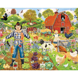 Scarecrow's New Friends 300 Large Piece Jigsaw Puzzle