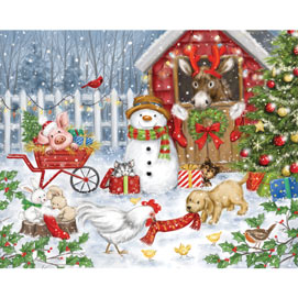 Christmas Farm Animals 300 Large Piece Jigsaw Puzzle