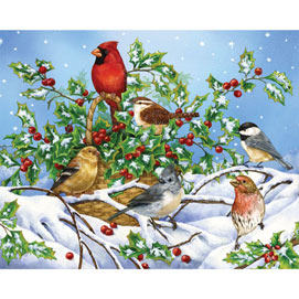 Holly Birds 500 Piece Jigsaw Puzzle