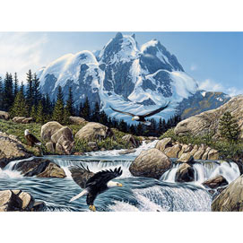 Fishing At Eagle Rock 300 Large Piece Jigsaw Puzzle