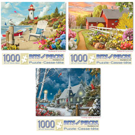 Set of 3 Pre-Boxed: Alan Giana 1000 Piece Jigsaw Puzzles