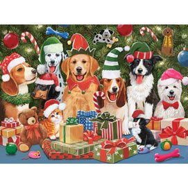 Baxter's Christmas Bash 300 Large Piece Jigsaw Puzzle
