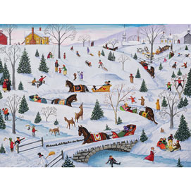 Sleigh Carnival 500 Piece Jigsaw Puzzle