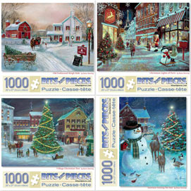 Set of 4: Ruane Manning 1000 Piece Jigsaw Puzzle