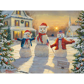 Holiday Greeters 300 Large Piece Jigsaw Puzzle