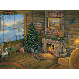 By the Fire 300 Large Piece Jigsaw Puzzle