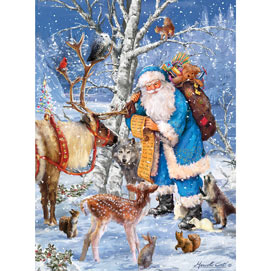 Santa's Forest Friends 300 Large Piece Jigsaw Puzzle