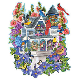 Victorian Bird House 750 Piece Shaped Jigsaw Puzzle