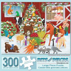 Christmas Farm 300 Large Piece Jigsaw Puzzle
