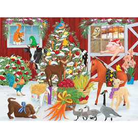 Christmas Farm 500 Piece Jigsaw Puzzle