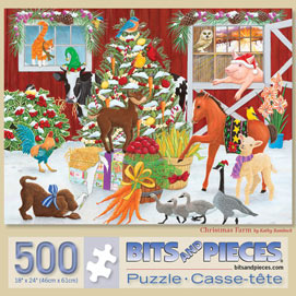 Christmas Farm 500 Piece Jigsaw Puzzle