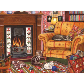 Fireside Kittens 1000 Piece Jigsaw Puzzle