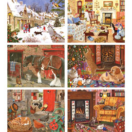 Set of 6: Tracy Hall 1000 Piece Jigsaw Puzzles