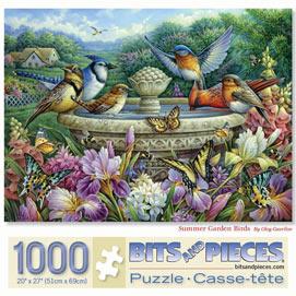 Summer Garden Birds 1000 Piece Jigsaw Puzzle