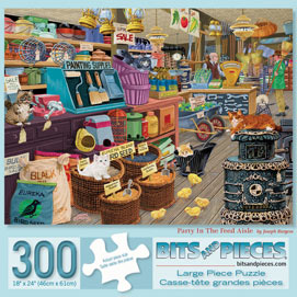 Party In The Feed Aisle 300 Large Piece Jigsaw Puzzle