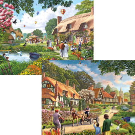 Village Life 4-in-1 Multi-Pack 1000 Piece Puzzle Set