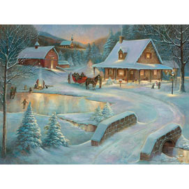 Winter At Little Meadow Farms 300 Large Piece Jigsaw Puzzle