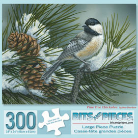 Pine Tree Chickadees 300 Large Piece Jigsaw Puzzle