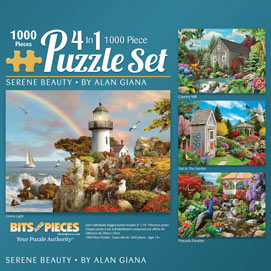 Alan Giana 4-in-1 Multi-Pack 1000 Piece Puzzle Set