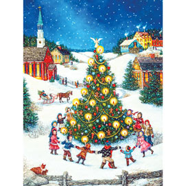 Dancing Around the Christmas Tree 500 Piece Jigsaw Puzzle