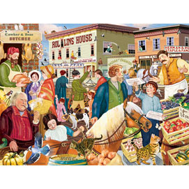 Market Day In Town 300 Large Piece Jigsaw Puzzle