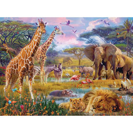 Savannah Animals 500 Piece Jigsaw Puzzle