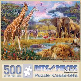 Savannah Animals 500 Piece Jigsaw Puzzle