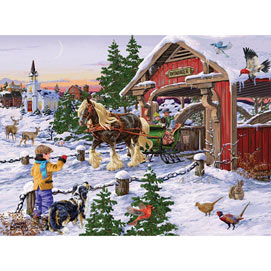 Winter Sleigh Ride 1000 Piece Jigsaw Puzzle