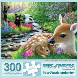 Little Friends In The Forest 300 Large Piece Jigsaw Puzzle