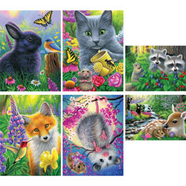 Set of 6: Bridget Voth 300 Large Piece Jigsaw Puzzles