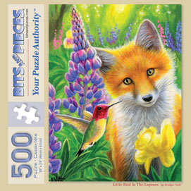 Little Bird In The Lupines 500 Piece Jigsaw Puzzle