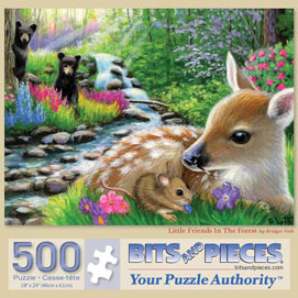 Little Friends In The Forest 500 Piece Jigsaw Puzzle