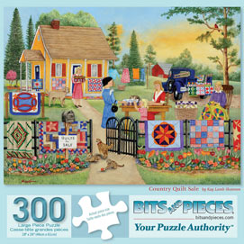 Country Quilt Sale 300 Large Piece Jigsaw Puzzle