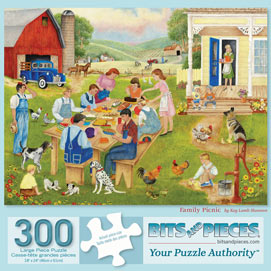 Family Picnic 300 Large Piece Jigsaw Puzzle
