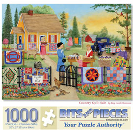 Country Quilt Sale 1000 Piece Jigsaw Puzzle