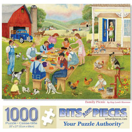 Family Picnic 1000 Piece Jigsaw Puzzle