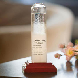 Admiral Fitzroy Historic Storm Glass Weather Instrument